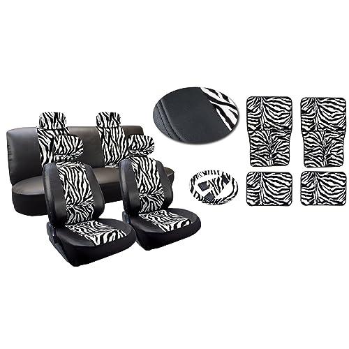 Zebra Print Seat Covers For Cars Amazon Com