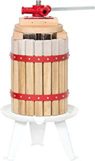 Best Choice Products 6L (1.6 Gal) Fruit Wine Press Cider Grape Crusher Wood Basket Juice Maker Kitchen