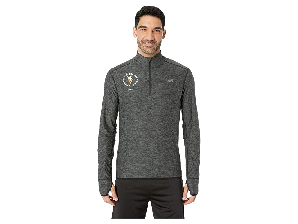 New Balance N Transit 1/4 Zip (Heather Charcoal) Men