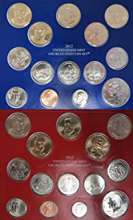 2012 P&D United States Mint Uncirculated Coin Set in Original Government Packaging Brilliant Uncirculated