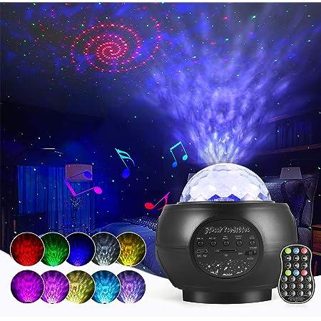 Lampe Projecteur LED Étoile, Starry Projector Light Avec 27 Modes & Télécommande & Timer & Enceinte & Bluetooth, Lampe Projecteur Led Etoile Pour Bébé Enfant Adulte