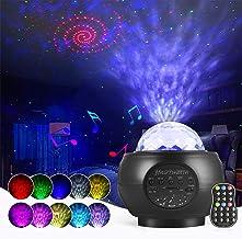 Projektor LED typu gwiaździste niebo, lampka nocna, z głośnikiem Bluetooth, na imprezę, Boże Narodzenie, Wielkanoc, Halloween