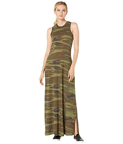 Alternative Eco-Jersey Printed Side Slit Maxi Dress Tank Dress (Camo) Women