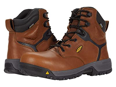 Keen Utility Chicago 6 Waterproof (Carbon-fiber Toe) (Tobacco/Black) Men