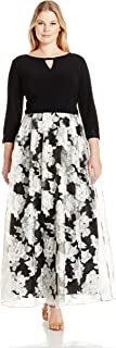 Alex Evenings Women's Plus Size Printed Ball Gown Dress