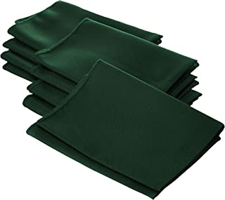 LA Linen Pack-10 بوليستر البوبلين منديل 45.72 سم، أخضر داكن
