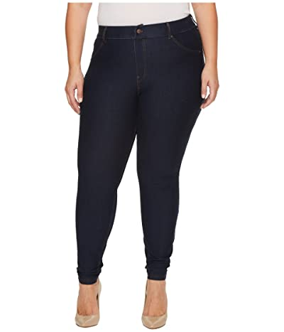 HUE Plus Size Essential Denim Leggings (Deep Indigo Wash) Women