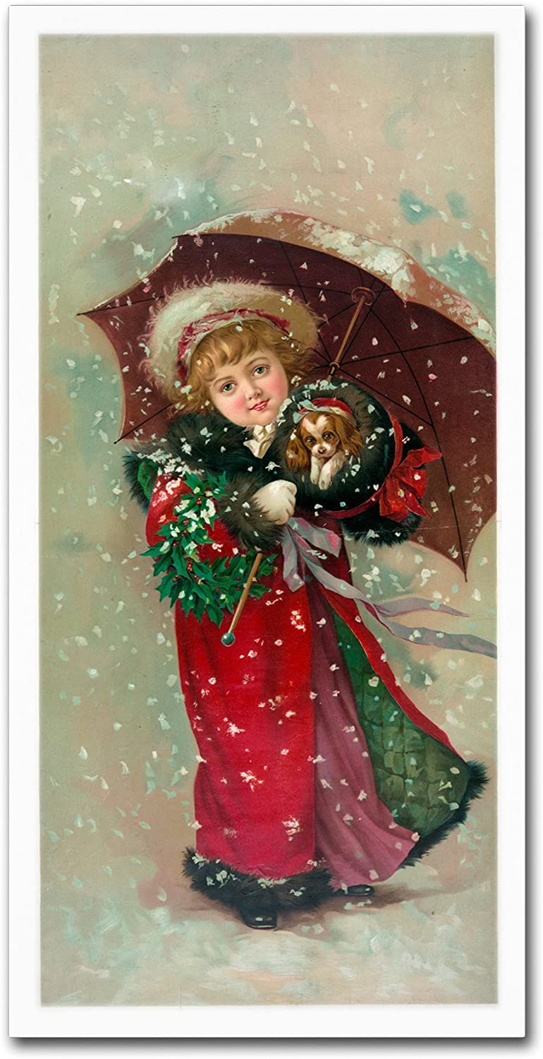 Little Girl Dog by Vintage Apple Collection, 10x19Inch