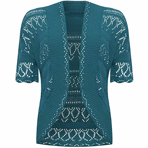 97e4c3f01ee975 VR7 Ladies Knitted Bolero Crochet Cardigan Shrug