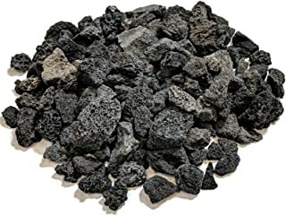 Midwest Hearth Lava Rock for Fire Pits and Gas Log Sets, Black 5/8