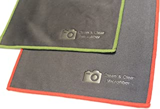 [8 Pack] Clean & Clear Microfiber - ULTRA PREMIUM QUALITY Lens Cleaning Cloths - Camera Lens, Glasses, Screens, and all Lens.