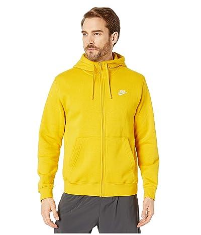 Nike NSW Club Hoodie Full Zip (Dark Sulfur/Dark Sulfur/White) Men