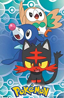 Trends International Pokémon-Alola Region Mount Wall Poster, 22.375