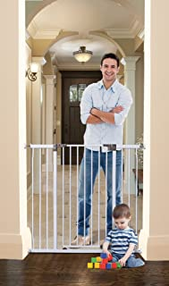 Dreambaby Liberty Extra Tall and Wide Auto Close Security Gate with Stay Open Feature, White