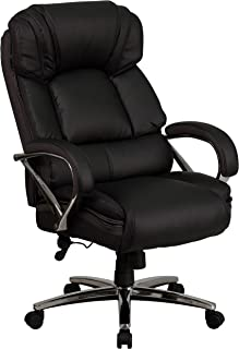 Flash Furniture HERCULES Series Big & Tall 500 lb. Rated Black LeatherSoft Executive Swivel Ergonomic Office Chair with Ch...