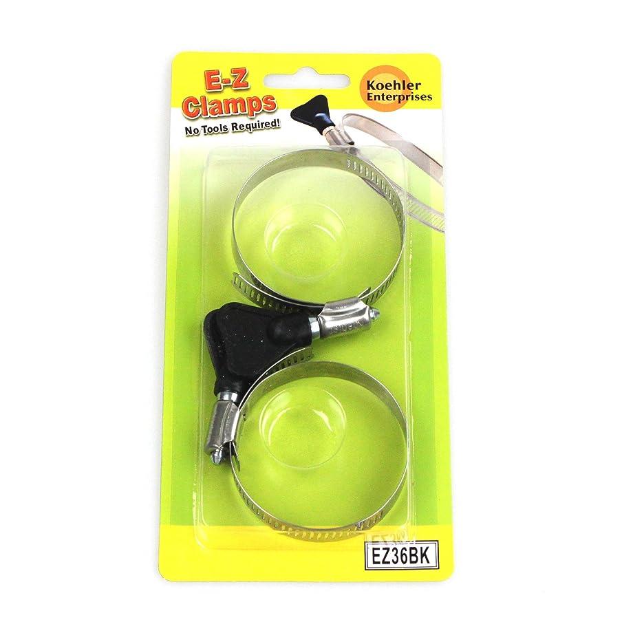 Koehler Enterprises EZ36BK EZ Clamp Blister Pack, 2 Piece (SAE Size 36, No Tools Required)