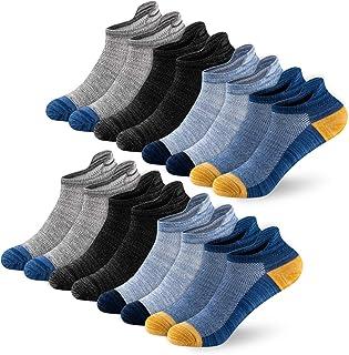 Newdora Chaussettes Hommes et Femme, 8 Paires Sport Coton Socquettes Courtes Basses Respirantes, Chaussette Hommes Antider...