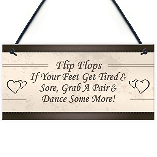 eca3846451bfc8 RED OCEAN Wedding Reception Decor Flip Flop Grab A Pair And Dance Prop  Hanging Plaque Mr