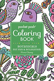 Pocket Posh Adult Coloring Book: Botanicals for Fun & Relaxation