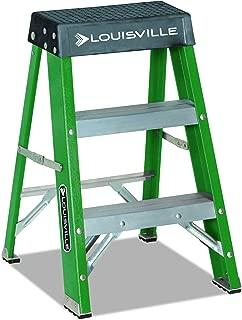 Louisville L321202#624 Folding Fiberglass Locking 2-Step Stool, 17 w x 22 Spread x 24 h