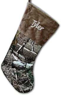 Personalized (Brown) Camo Christmas Stocking Officially Licensed Realtree AP Shearling Camouflage