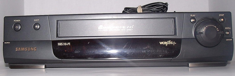 Samsung Diamond Head DA 4 Head HI-FI STERO MTS VR8807 VCR Plus+ -Without Remote