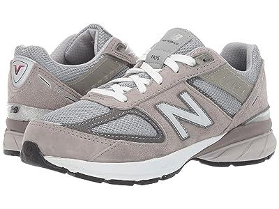 New Balance Kids 990v5 Launch (Little Kid) (Grey) Kids Shoes