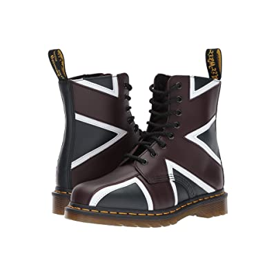 Dr. Martens Union Jack Pascal 8-Eye Boot (Navy Smooth/Oxblood Smooth) Boots