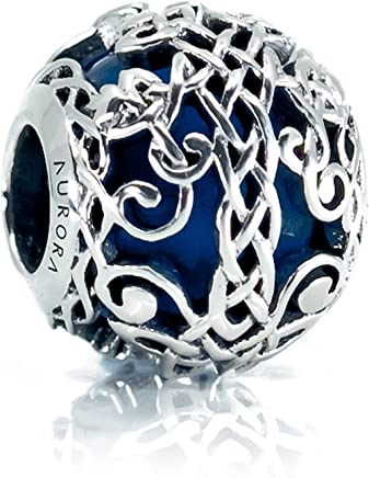 70f2a29ff Blue Murano Glass & Sterling Silver Irish Celtic Tree of Life/Family Tree  Charm S925