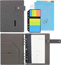"SynLiZy A5 PU Leather Personal Organizer Undated Planner (A5 Gray) 7.36"" x 9.44""(Paper Size 5.5""x 8.3"")"