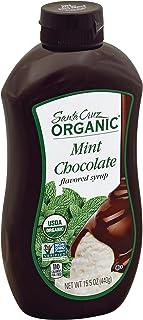 Santa Cruz Organic Ice Cream Topping Syrup, Mint Chocolate, 15.5 Ounce