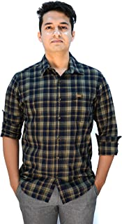 American Smith Full Sleeves Cotton Yard Dyed Twill Weave Casual Men's Shirt (Size M, L, XL, 2XL)