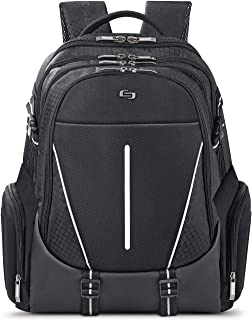 Solo Rival 17.3 Inch Laptop Backpack with Hardshell Side Pockets, Black (Black) - ACV700-4
