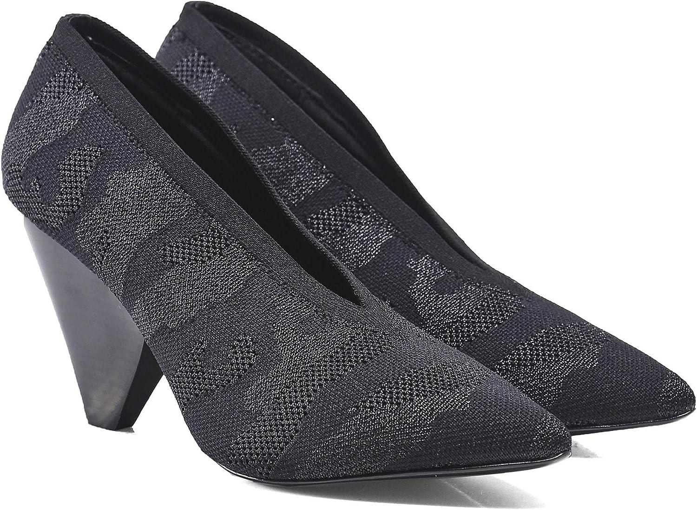 Ash Women's Dream Camo Knitted Heels Black