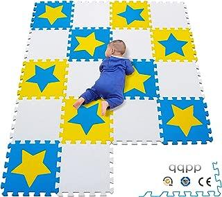 qqpp Alfombrilla de rompecabezas infantil Recién nacido - Suelo de goma EVA blanda.  18 piezas (30 * 30 * 1 cm), pentagrama y espacio en blanco.  QQPC-27 (9) Ab18N