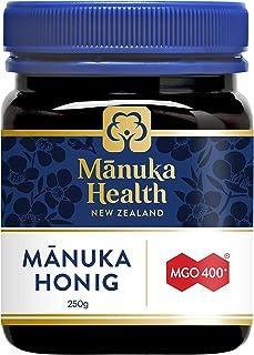Manuka Health - Manuka Honig MGO 400 250 g - 100% Pur aus Neuseeland mit zertifiziertem Methylglyoxal Gehalt