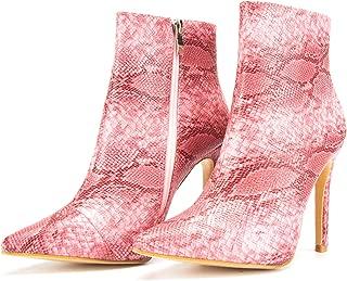 JSUN7 Women's Fashion Stiletto High Heel Ankle Boot Shoe