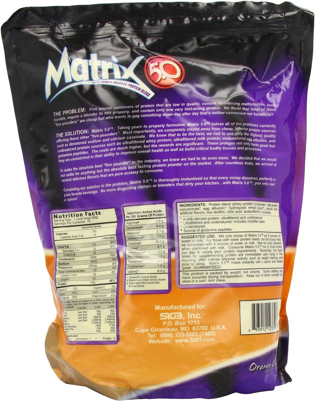 Matrix5.0, Bananas & Cream, 5 Pounds, Pack of 6 : Health & Household