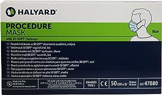 ماسک های بهداشتی پزشکی Halyard Procedure با جعبه گوشواره ای بسیار نرم 50 آبی