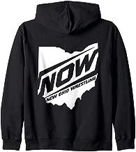 New Ohio Wrestling White State Pro Wrestling Zip Hoodie