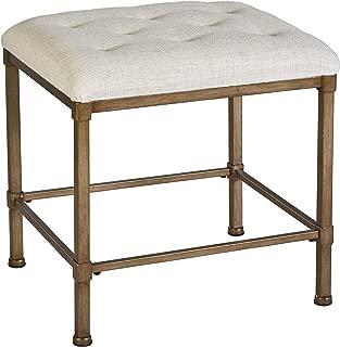 Hillsdale Furniture Katherine Vanity Stool, Golden Bronze