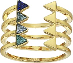 Rebecca Minkoff Stacked Triangles U-Ring