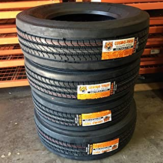 Set of 4 (FOUR) Cosmo CT588 Plus Commercial All-Season Radial Tires-265/70R19.5 140/138L LRH 16-Ply