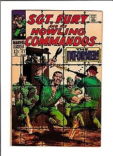 SGT. FURY #57 [1968 VF-] PRISON COVER