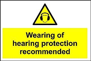 Señal de advertencia señal de seguridad Uso de protección auditiva recomendado–3mm aluminio señal de 600mm x 400mm