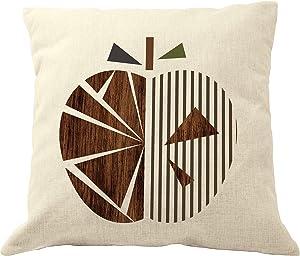 DrupsCo Apple Pillow - Geometric Throw Pillows - Geometric Pillow Cover