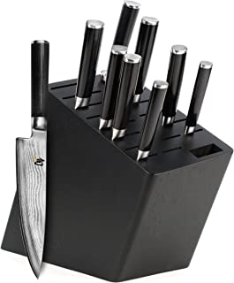 Shun Classic Knife Set, 10-piece with Angled Block