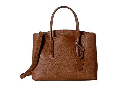 Kate Spade New York Margaux Large Satchel (Cinnamon Spice) Satchel Handbags