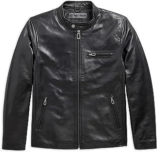 Men's Rider Spirit Slim Fit Leather Jacket, Black