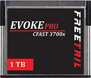 FreeTail Evoke Pro 1TB CFast 2.0 Card Speeds up to 560MB/s, VPG 130 Made for Canon, Blackmagic Design, Hasselblad, and Pha...